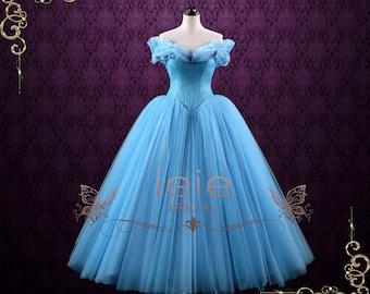 Cinderella Blue Ball Gown Evening Dress Prom Dress Formal Dress | Cinderella
