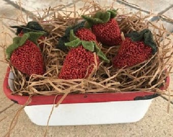 Punch Needle Strawberries