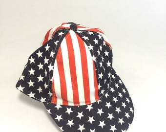 American flag snapback hat