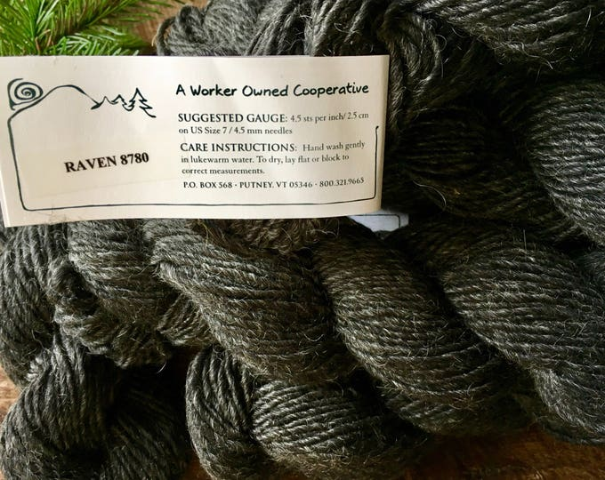 Green Mountain Spinnery, Mountain Mohair - Raven, black wool yarn