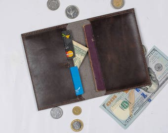 Passport wallet mini card wallet passport case leather passport cover men passport holder card holder