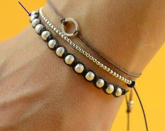 Woven  sterling silver bracelet