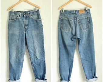 SPRING SALE 80s Levis Orange Tab Jeans, 32 x 32 High Waisted Jeans, Levi's Medium, High Rise Baggy Jeans, Boyfriend Jeans Levi's Mom Jeans B