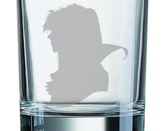 Jareth Goblin King  Etched glass Tumbler (300ml)