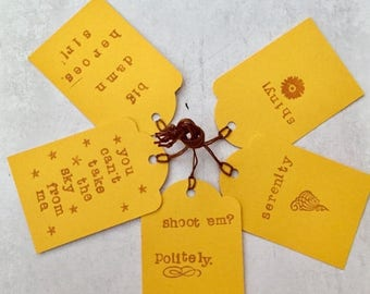ON SALE Firefly Gift Tags - Serenity Gift Tags - Brown Coats - Note Tags - Take The Sky From Me - Shiny - Mal - Wash - River - Leaf On The W