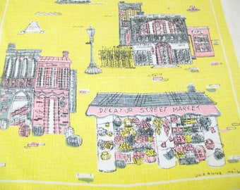 Midcentury Linen Towel, Kitchen, Tea Towel, Dish Towel, Suzanne Meister