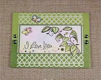 I love you - Valentines card