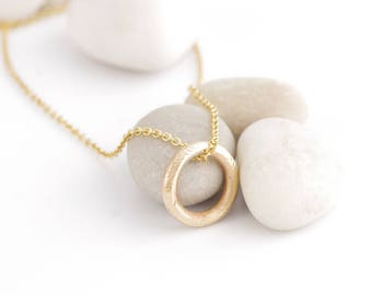 Precious Little Organic Gold Circle Necklace