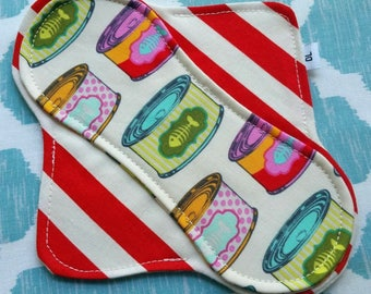 """Ready to Ship 6.5"""" Cotton Pantyliner, 100% Cotton"""