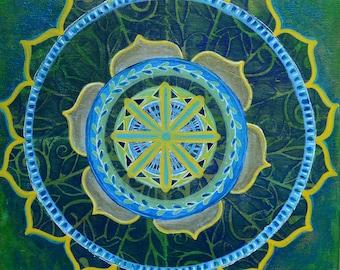 Vines Mandala // Original Acrylic Painting - 12 x 12