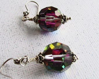 Sterling Silver & Vintage Swarovski Crystals Earrings on Etsy by APURPLEPALM