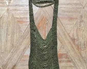 Handwoven brass Aria necklace