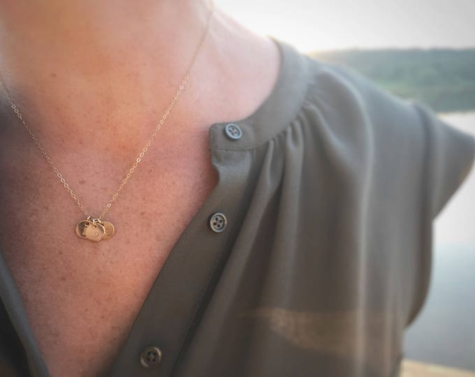 "Featured listing image: ""Tabby"" Gold Initial Necklace"