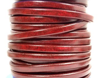 Regaliz Licorice Leather - Bordeaux - R8 - Choose Your Length