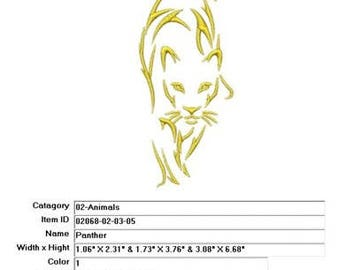 Embroidery Machine File  02068-02-03-05 Panther
