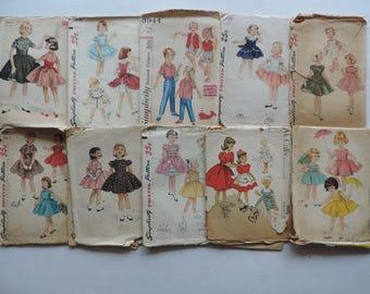 vintage 1950s childrens kids clothing pattern collection lot of 10 vintage girl toddler sewing patterns