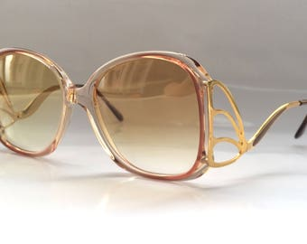 80s Vintage Ladies Womens Sunglasses with Butterfly Patten Arm