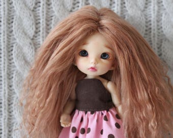 Lovely Light Caramel mohair wig for Pukifee / Lati Yellow / other small doll