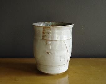 Just A Simple Vase - Vintage Pottery - Handmade Vase - Neutral Colors - Studio Pottery - Art Pottery