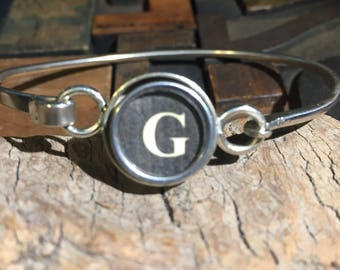 G typewriter key bracelet