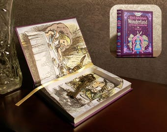 Hollow Book Safe (Alice's Adventures in Wonderland and Through the Looking Glass)