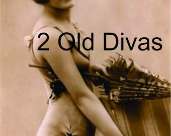 Vintage 1920s Bathing Beauty with Parasol Instant Download