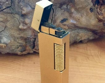 CIJ SALE Christmas JULY Vintage 1940's DunHill Gold Lighter Swiss Made