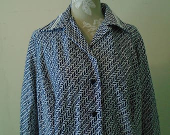 Bloomingdale's Dress  Black And White Button Down The front Size 20 1/2