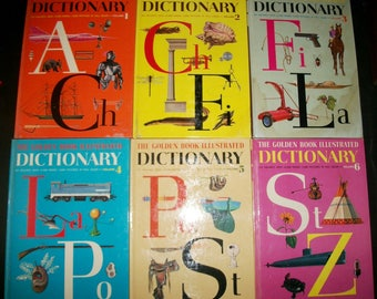 Complete Set 1960s Golden Book Illustrated Dictionary