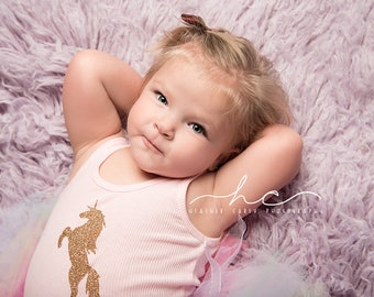 Unicorn Shirt   Pink Unicorn Bodysuit   Gold Unicorn Tank Top   Baby Girls   Toddler Girls
