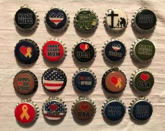 "Bottle caps ""Military"""