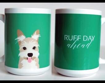 Mutt Dog 15 oz Mug, Funny Mug, Dog Coffee Mug, Cute Mug, 2 sided Mug