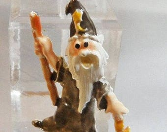 SALE Vintage It's a Wizard Brooch. Magician Pin. Cold Enamel. Handpainted.