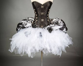 Size Medium Jack Skellington corset dress zombie Burlesque Corset Nightmare before Christmas SteamPunk