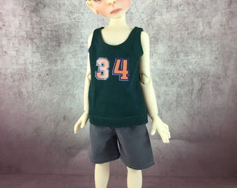 34 tank top and board shorts for Maurice by Kaye Wiggs MSD BJD Boys