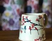 Mug Chery Blossom and Birds