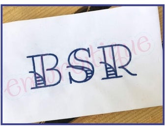 "Lakeside Monogram Font  - BX Files included- Instant Download Machine embroidery design -1"", 1.5"", 2"", 2.5"", 3"", 4"""