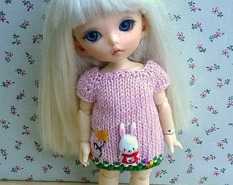 Dress With bunny for Middie Blythe, Pukifee, Lati Yellow