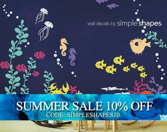 Wall Decal Kids Under the Sea Wall Decal Collection Nursery Wall Decals