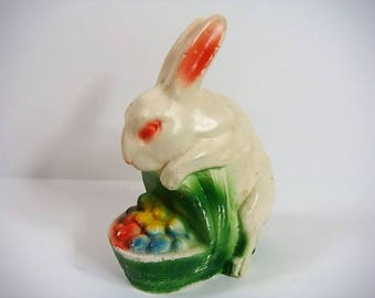 Easter Bunny in Basket Caulkware Easter Bunny 1030's