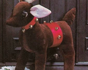 """Rudolph Reindeer SEWING PATTERN  Stuffed Toy -Doll~19"""" Tall  ~Home Decoration~Fun for Christmas PDF Download"""