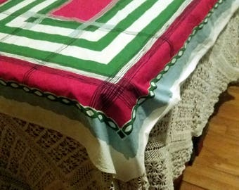 Bright and colorful 1950's Table cloth