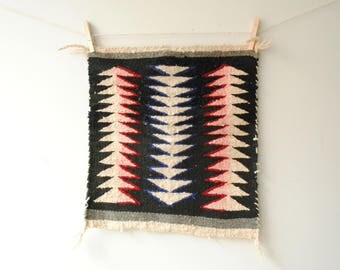 Vintage Weaving, Native American Indian Woven Textile, Wall Hanging, Southwestern Sampler Weaving