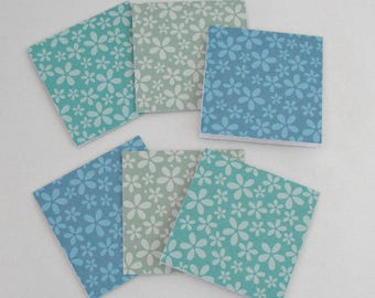 Mini Note Cards, 3x3 Inch Cards, Thank You Notes, LunchBox Note Cards, Set of 6 Small Note Cards