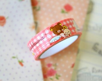 03 Rilakkuma Bear Cartoon Washi Masking Tape
