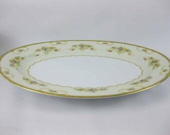 """Vintage Noritake Large Oval Serving Platter 16"""" Long  #N1014 Circa 1933"""