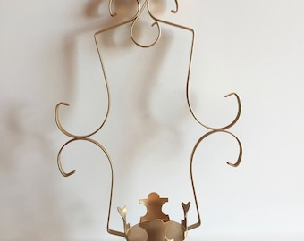 vintage wrought iron pillar candle wall sconce