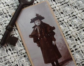 Vintage Carte de Visite, Late 1800's, Early 1900's, Victorian, Edwardian, Craft, Scrapbooking, Mixed Media