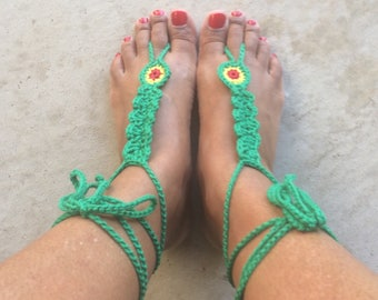 Crochet Rasta Barefoot Sandals, Beach Barefoot Sandals, Crochet Barefoot, Beach Wedding, Rasta Wedding, Bridesmaid Barefoot, Jamaica