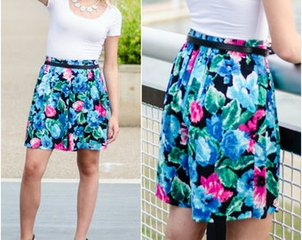 High Waisted Shorts - Printed Shorts - Festival Shorts - Hipster Shorts -  Boho Shorts - 90s Shorts - Womens Culottes - Floral Shorts